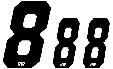 Set Cijfers ZWART - Nummerbord/Zijnummerbord